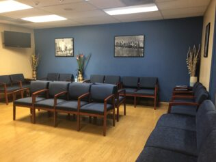 The waiting room at the Work Clinic's Tukwila branch