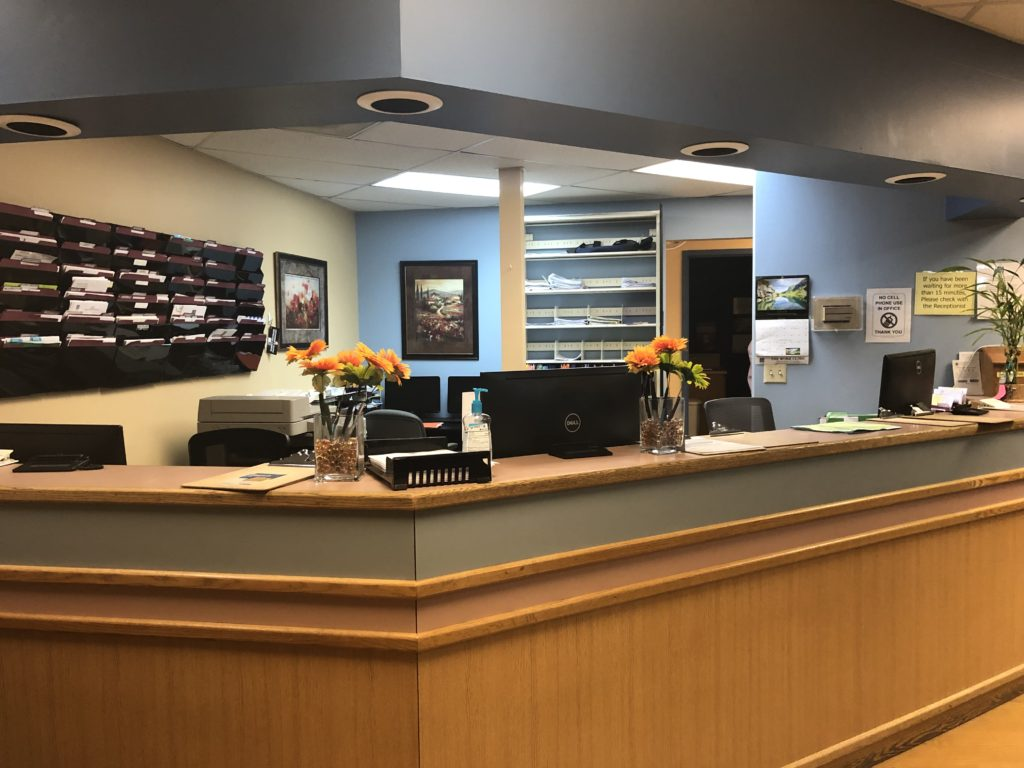 The front desk in the Work Clinic's Tukwila branch